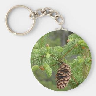 Llavero del cono del pino