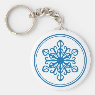 Llavero del copo de nieve - azul