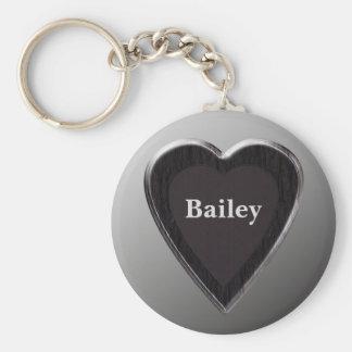 Llavero del corazón de Bailey por 369MyName