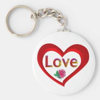 Llavero del corazón del amor de la tarjeta del día