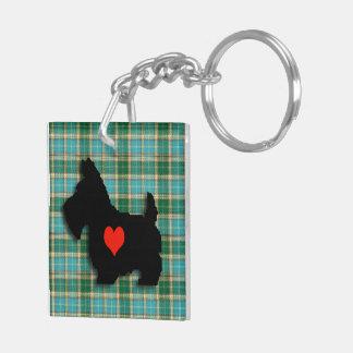 Llavero del corazón del amor del escocés