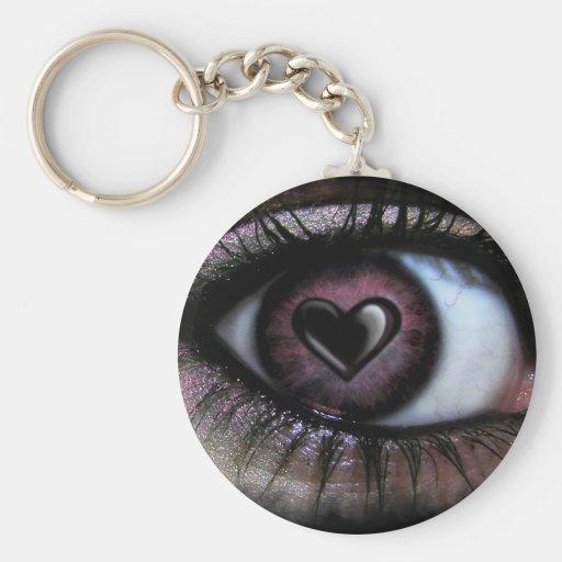 Llavero del corazón U del ojo