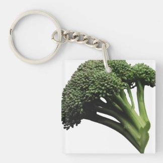 Llavero del cuadrado del bróculi (solo-echado a un