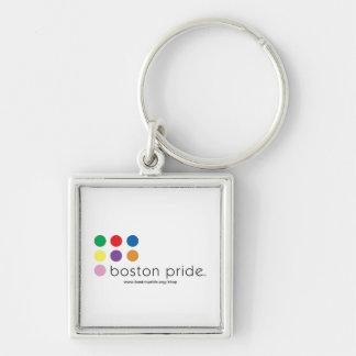 Llavero del cuadrado del orgullo de Boston