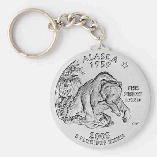 Llavero del cuarto del estado de Alaska