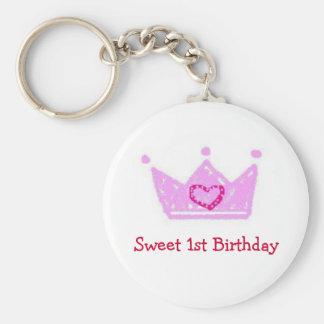 Llavero del cumpleaños del dulce del chica 1r