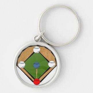 Llavero del diamante de béisbol