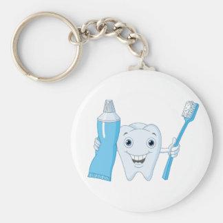 Llavero del diente y del cepillo de dientes