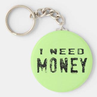 Llavero del dinero de la necesidad