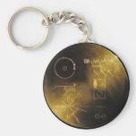 Llavero del disco de oro del viajero