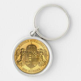 Llavero del diseño de la moneda de Korona del