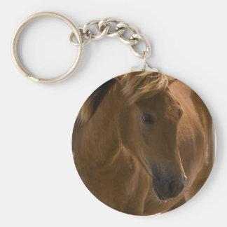 Llavero del diseño del caballo de la castaña