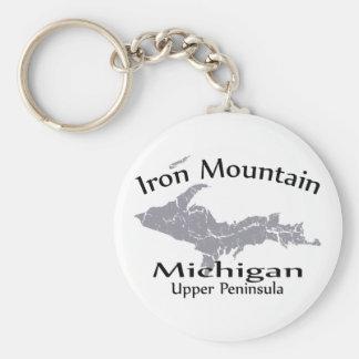 Llavero del diseño del mapa de Michigan de la mont