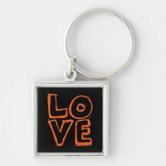 Llavero del diseño del texto del amor