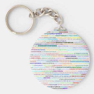 Llavero del diseño II del texto de Christopher