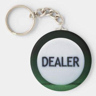 Llavero del distribuidor autorizado del póker