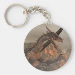 Llavero del dragón del fuego