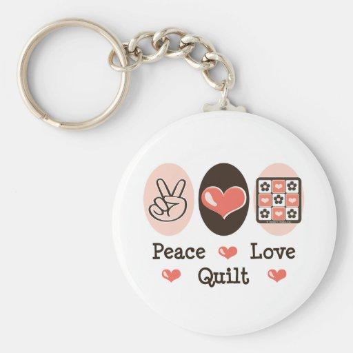 Llavero del edredón del amor de la paz
