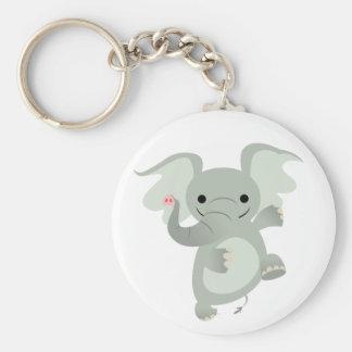 Llavero del elefante del dibujo animado del baile