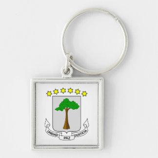 Llavero del escudo de armas de la Guinea Ecuatoria