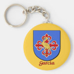 Llavero del escudo de la familia de García