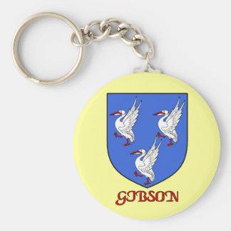 Llavero del escudo de la familia de Gibson