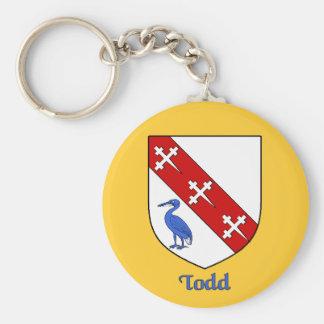 Llavero del escudo de la familia de Todd