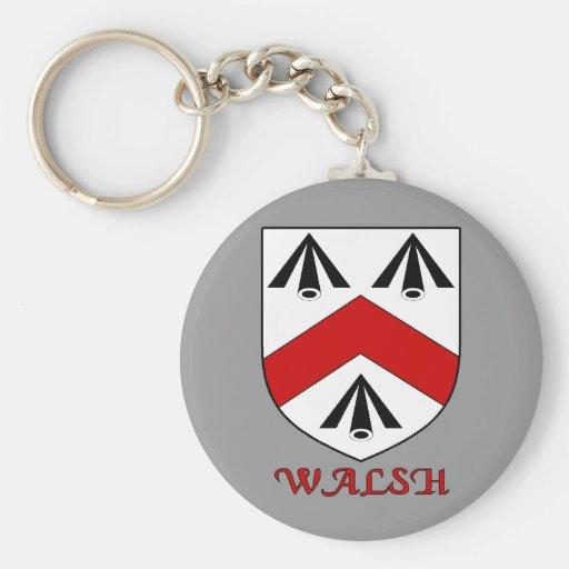 Llavero del escudo de la familia de Walsh