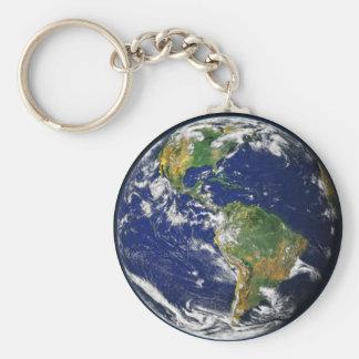 Llavero del espacio de la tierra del planeta
