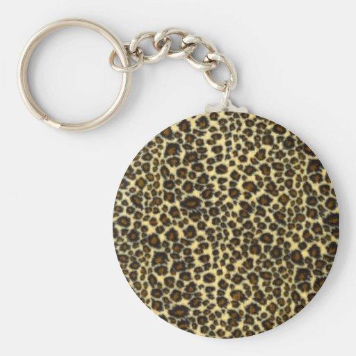 Llavero del estampado leopardo
