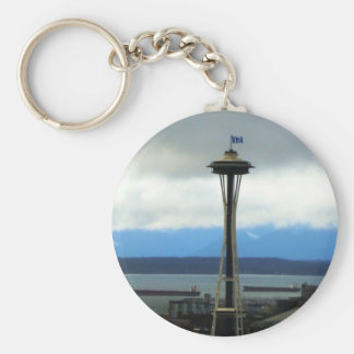 Llavero del fanático del fútbol de Seattle