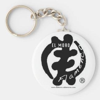 Llavero del flamenco del EL Moro logotipo negro