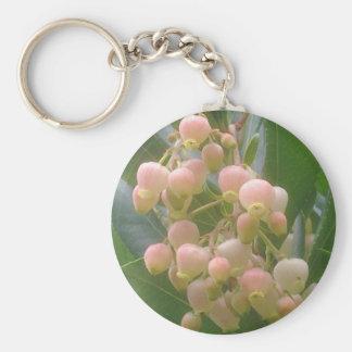 Llavero del flor del árbol de fresa