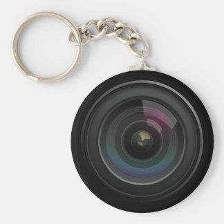 Llavero del fotógrafo de la lente de cámara