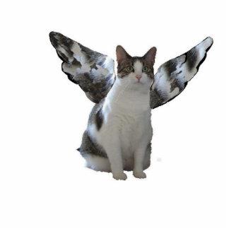 Llavero del gatito del ángel esculturas fotográficas