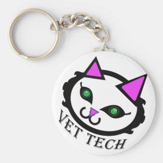 Llavero del gato de la tecnología del veterinario