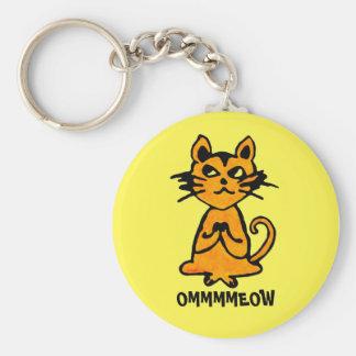 Llavero del gato de OM - regalos divertidos de la