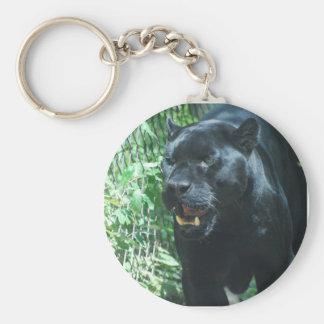 Llavero del gato de pantera negra