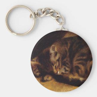 Llavero del gato el dormir de Renoir