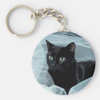 Llavero del gato negro