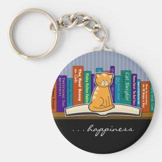 Llavero del gato y de los libros