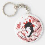 Llavero del geisha de la primavera