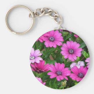Llavero del geranio de Cranesbill (flores rosadas)