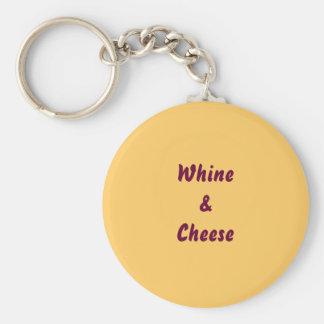 Llavero del gimoteo y del queso