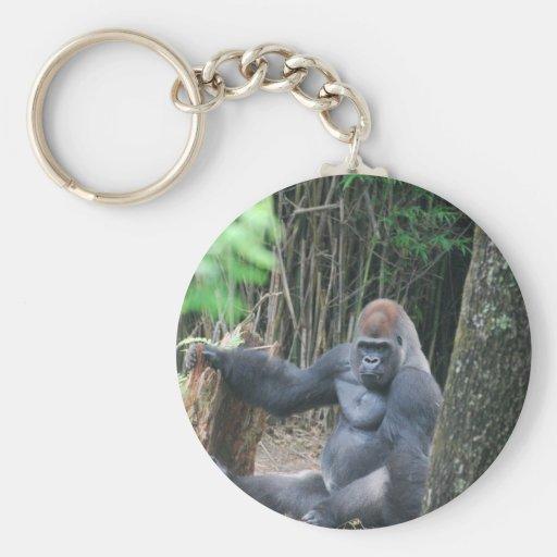 Llavero del gorila del Silverback que se sienta