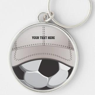 Llavero del gorra de la bola del fútbol