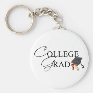 Llavero del graduado de la universidad