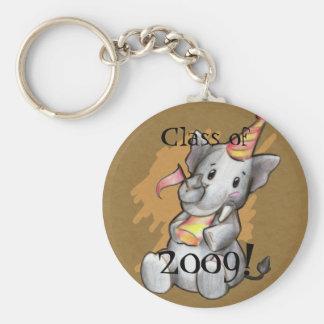 Llavero del graduado del elefante del fiesta