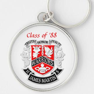 Llavero del graduado del escudo de armas del MHS