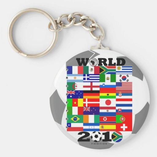 Llavero del grupo de la bandera del mundial 2010